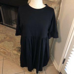 ASOS Women's Cotton Slubby Frill/Short Sleeve 10